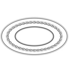 twisted rope frame of oval shape - elliptic border vector image vector image
