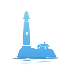 Blue icon of lighthouse vector