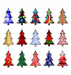 fir trees vector image