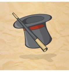 Magic hat and magic wand the concept of a magic vector