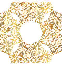 seamless gold pattern with gold ornament vector image vector image