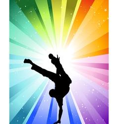 brake dancer vector image vector image