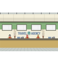 Front Of Travel Agency Counter vector image