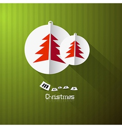 Green Retro Abstract Merry Christmas Background vector image vector image