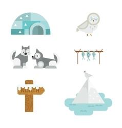 Wild north arctic symbols vector image vector image