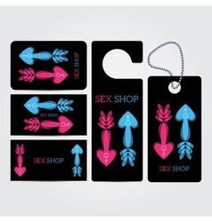 XXX sex shop salon black Corporate identity vector image
