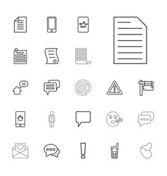 22 message icons vector