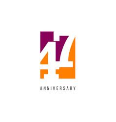 47 years anniversary celebration logo template vector