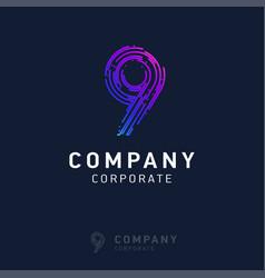 9 company logo design vector image