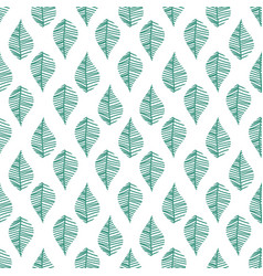 Abstract leaves seamless pattern vector