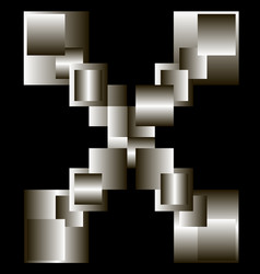 abstraction from gradient squares vector image