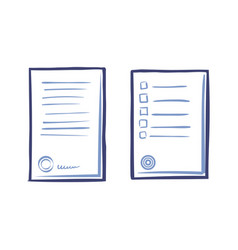 appliance letter sample line art icons paper list vector image