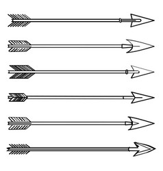 arrows drawing icons set vector image