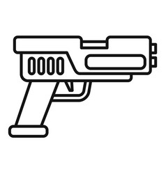 Automatic blaster icon outline style vector