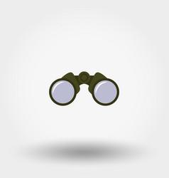binoculars icon flat vector image