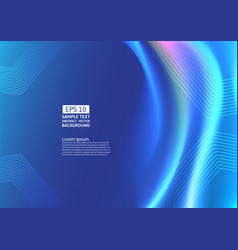 blue color waves and geometric abstract vector image