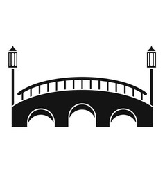 Bridge icon simple style vector