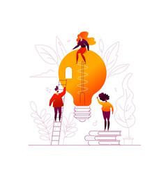 Bright idea - flat design style colorful vector