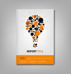 Brochures book or flyer with abstract bulb vector