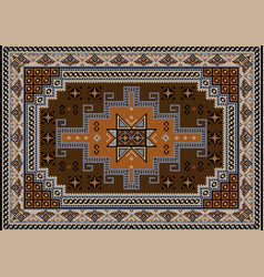Carpet with brownbluish black beige and brown vector