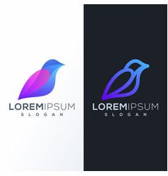 colorful bird logo design ready to use vector image
