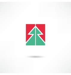 conifer icon vector image