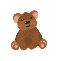 cute hand drawn teddy bear isolated on white vector image