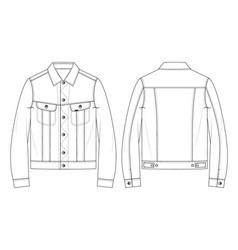 Denim jacket vector