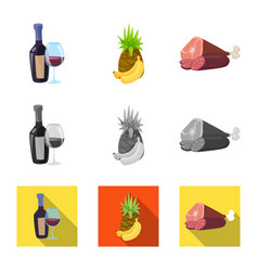 design of food and drink logo set of food vector image