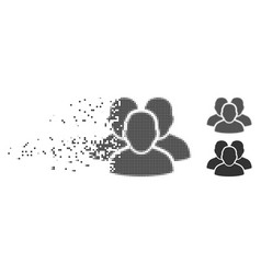dust pixel halftone user group icon vector image