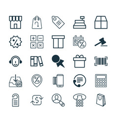E-commerce icons set collection of handbag vector