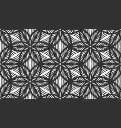 floral seamless pattern repeat black flower lace vector image