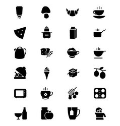 Food Solid Icons 9 vector image