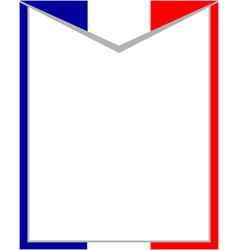 French abstract flag border vector