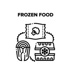 Frozen food black vector