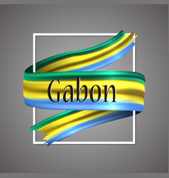 gabon flag official national colors gaboni 3d vector image