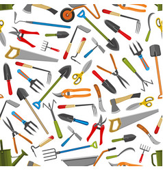 gardening tools seamless pattern background vector image