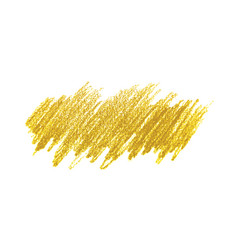 Golden pencil hand drawn hatching stain vector