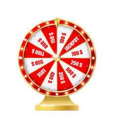 golden wheel fortune 3d realistic vector image