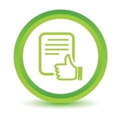 Green Document icon vector