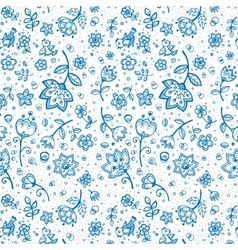 Hand-drawing flower pattern vector image