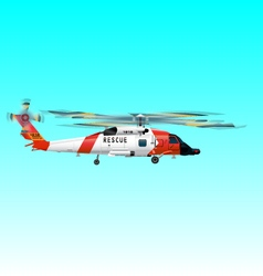 helicopter rescue team vector image
