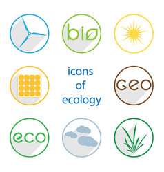 icons of ecology vector image