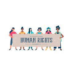 international human rights card of diverse women vector image