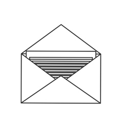 Isolated envelope mail design vector