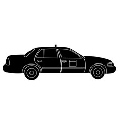 isolated taxi silhouette vector image