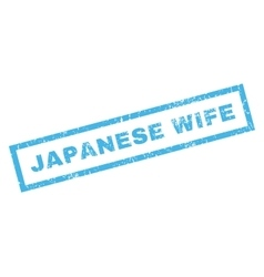 Japanese Wife Rubber Stamp vector