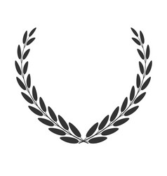 Laurel wreath isolated on white vector