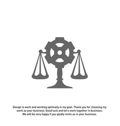 law firm with gear logo design template law firm vector image
