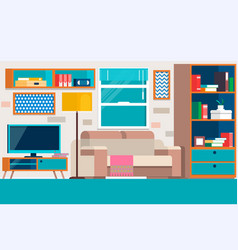 Living room with furniture cool graphic living vector